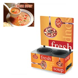 Cayenne® - Twin Well 7 Qt. Soup Merchandisers - Menu Seaside