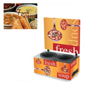 Cayenne® - Twin Well 7 Qt. Soup Merchandisers - Menu Homestyle