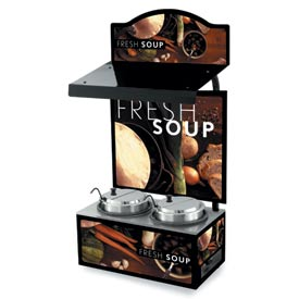 Cayenne® - Twin Well 7 Qt. Soup Merchandisers - Canopy Tuscan