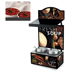 Cayenne® - Twin Well 7 Qt. Soup Merchandisers - Canopy White Bowl