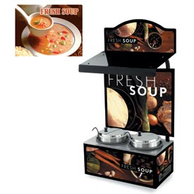 Cayenne® - Twin Well 7 Qt. Soup Merchandisers - Canopy Seaside