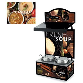 Cayenne® - Twin Well 7 Qt. Soup Merchandisers - Canopy Variety