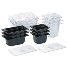 "1/2 Super Pan 3® 65mm, 2-1/2"" - Black Plastic Pan - Pkg Qty 6"