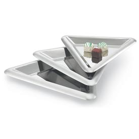 "Vollrath® Medium Triangular Tray - 15"" Dia. - Pkg Qty 3"