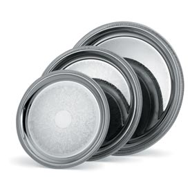 Vollrath® Silverplate Elegant Reflections™. Round Tray - 12-3/8""