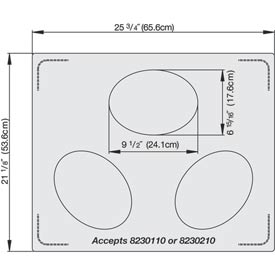 Miramar™ Plain SS Double Well Template - 3 Small Ovals