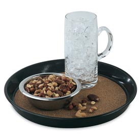 "Vollrath® Tray - Round Beer Tray Brown 12"" - Pkg Qty 12"