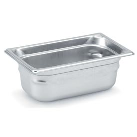Vollrath® 1/4 Size Super Pan 3® 90482 Pan 200mm, 8d - Pkg Qty 3