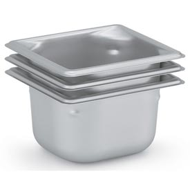 Vollrath® 1/6 Size Super Pan 3® 90682 Pan 200mm, 8d - Pkg Qty 3