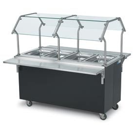 "Signature Server® - Double-Sided Tubular Buffet Breath Guard 74"" Base"