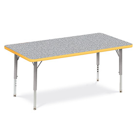 "Virco® 482448LO Activity Table w/ Short Adj. Legs, 24"" x 48"", Gray Frame/Gray Top"