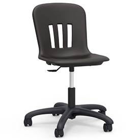 Virco® N9TASK18 Metaphor® Mobile Chair, Black Seat