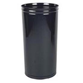 "Tall Trash Container For Use W/Dome Tops, Black, 80 Quart, 16""Dia X 29""H"