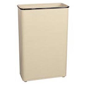 "Tall Rectangular Trash Container, Almond,96 Quart, 21""W X 30""H X 11""D - Pkg Qty 3"