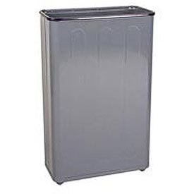 "Tall Rectangular Trash Container, Gray,96 Quart, 21""W X 30""H X 11""D - Pkg Qty 3"