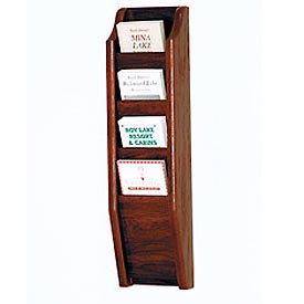 4 Brochure Wall Display - Mahogany