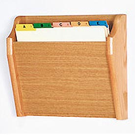 Single Tapered Pocket Chart Holder - Light Oak