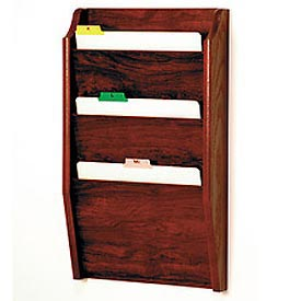 3 Pocket Chart Holder - Mahogany