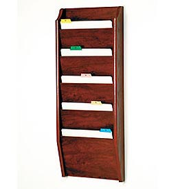5 Pocket Chart Holder - Mahogany