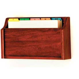 Wooden Mallet Single Square Bottom Legal Size File Holder, Mahogany