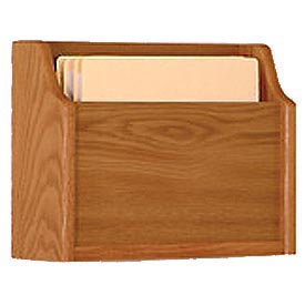 Extra Deep Single Pocket Chart Holder - Medium Oak