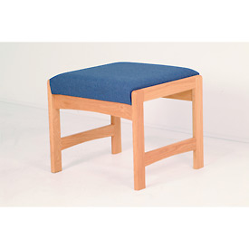 One Person Bench - Light Oak/Earth Water Pattern Fabric