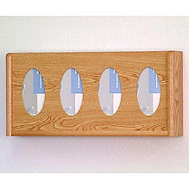 4 Pocket Glove/Tissue Box Holder - Light Oak