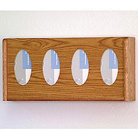 4 Pocket Glove/Tissue Box Holder - Medium Oak