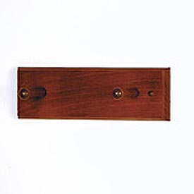 "12"" Coat Rack with 2 Wood Pegs - Mahogany"