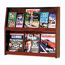 6 Magazine/12 Brochure Wall Display - Mahogany