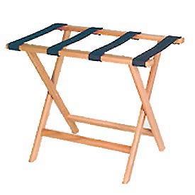 Luggage Rack w/ Straight Legs - Light Oak/Black