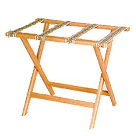 Luggage Rack w/ Straight Legs - Light Oak/Tapestry