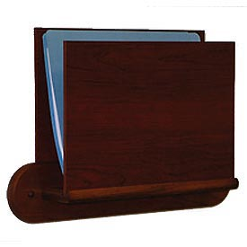 HIPAA Compliant Oak Open Ended Chart Holder - Mahogany
