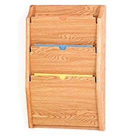 3 Pocket HIPPAA Compliant Chart Holder - Light Oak