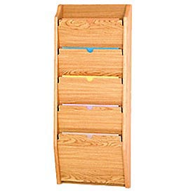5 Pocket HIPPAA Compliant Chart Holder - Light Oak