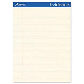 Evidence® Greentint Legal Ruled Pads, 8-1/2 x 11-3/4, 50 Sheets/Pad, Dozen