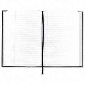 Royale® Business Notebook, Casebound, 10-1/2 x 8, Black/Gray