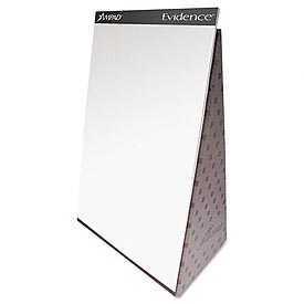 Evidence® Tabletop Easel-Back Flip Chart, 20 x 28, White, 20 Sheets/Pad
