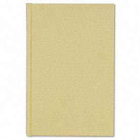 Handy Size Bound Memo Book, Stiff Tan Cover, 9 x 5-7/8 Size, 96 Pages
