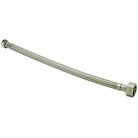 Zurn Z8861-XL-16-SS Faucet Supply 1/2 In. F.I.P. X 1/2 In. F.I.P. X 16 In. - Braided Stainless Steel