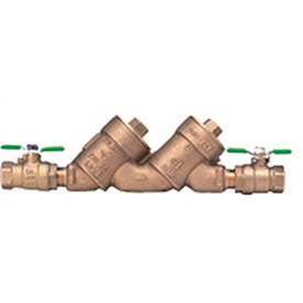 Zurn 1-950XLT2 1 In. FNPT x FNPT Double Check Valve Assembly - 175 PSI - Lead-Free Cast Bronze