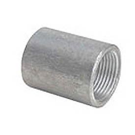 Capitol 11201015 Non-Recessed Straight Tapped Coupling 150# Galvanized Steel - 1-1/2''