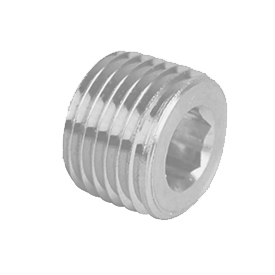 Pittsburgh Plug & Products 19521202 Hex Socket Plug 300# Galvanized Steel - 1/4'' - Pkg Qty 100