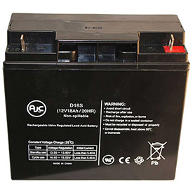 AJC® Brand Replacement Scooter Batteries 12V 18Amps