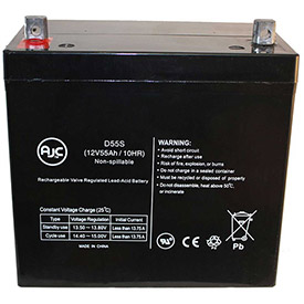 AJC® Brand Replacement Scooter Batteries 12V 55 Amps