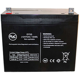 AJC® Brand Replacement Scooter Batteries 12V 75 Amps