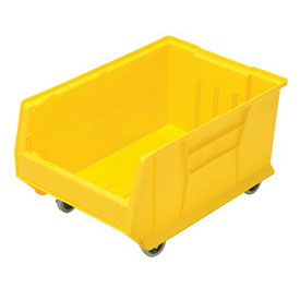 Quantum Mobile Hulk Plastic Stackable Storage Bin QUS964MOB 16-1/2 x 23-7/8 x 11 Yellow